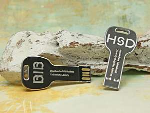 Mini-Key.04, Metall USB Stick in Schlüsselform