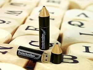 Bleistift USB Stick aus Holz mit Logo