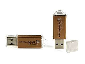 USB-Sticks aus Aluminium - in vielen Farben mit Logo