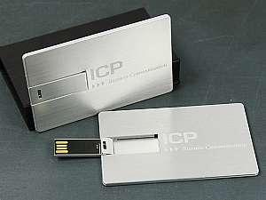 USB Stick Visitenkarte Aluminium mit Gravur
