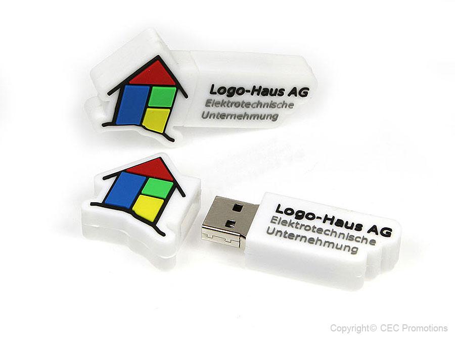 Freiform USB Sticks als Logo