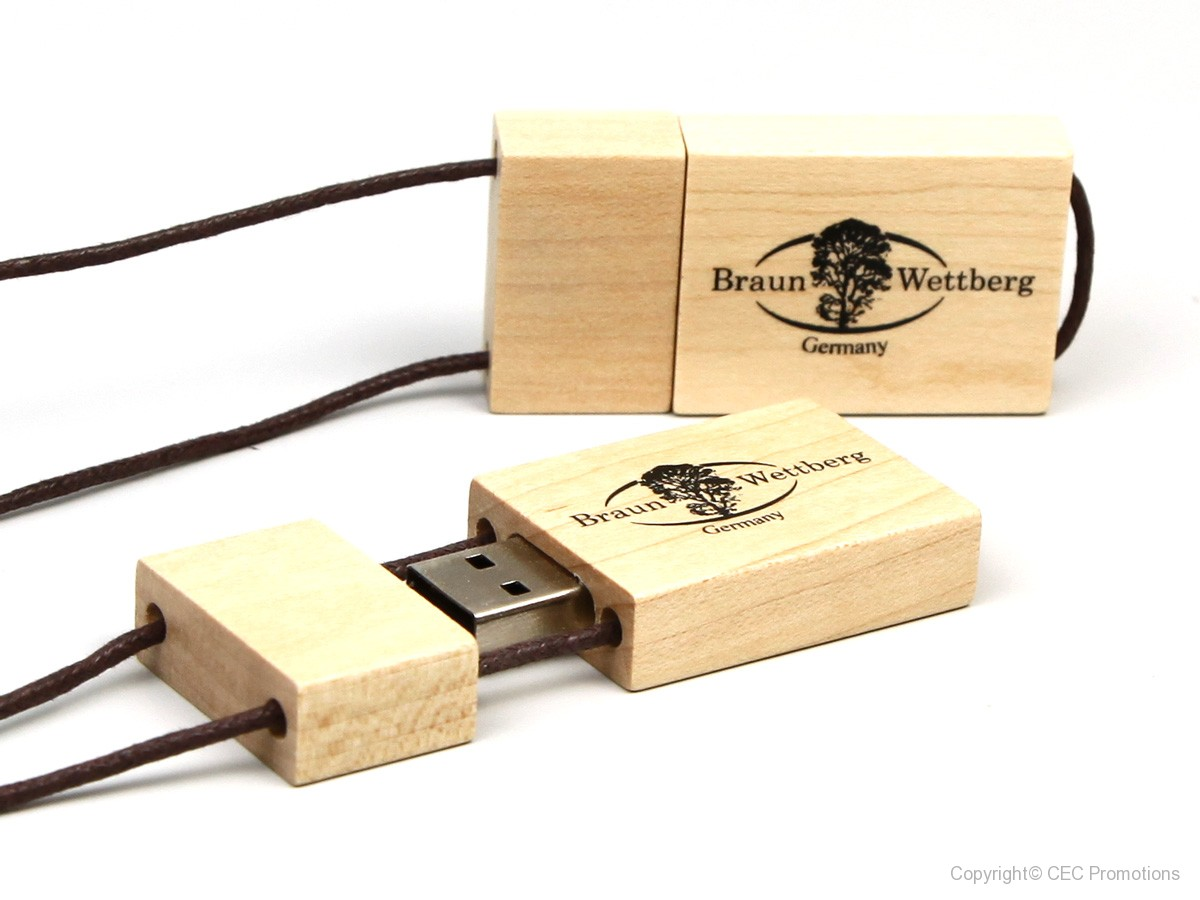 usb stick aus holz der usb memory stick l sst sich bedrucken. Black Bedroom Furniture Sets. Home Design Ideas